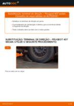 Substituir Articulação angular tirante de direcção PEUGEOT 407: tutorial online