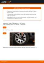 Rato guolis pakeitimas AUDI A6 Avant (4B5, C5) - patarimai ir gudrybės
