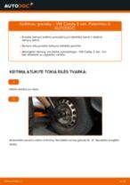 Kaip pakeisti VW Caddy 3 van granatų - keitimo instrukcija