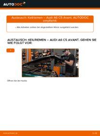 Wie der Wechsel durchführt wird: Keilrippenriemen 2.5 TDI quattro Audi A6 C5 Avant tauschen