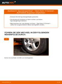 Wie der Wechsel durchführt wird: Spurstangenkopf 1.6 (L35) Opel Astra H Caravan tauschen