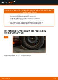 Wie der Wechsel durchführt wird: Spurstangenkopf 1.0 i 16V Nissan Micra k11 tauschen