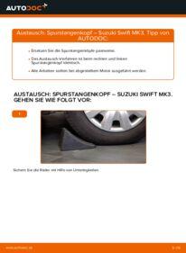 Wie der Wechsel durchführt wird: Spurstangenkopf 1.3 (RS 413) SUZUKI SWIFT III (MZ, EZ) tauschen
