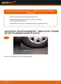 Wie der Wechsel durchführt wird: Spurstangenkopf 3.0 d BMW E53 tauschen