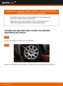 Wie der Wechsel durchführt wird: Querlenker 2.5 TDI quattro Audi A6 C5 Avant tauschen