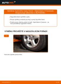 Jak provést výměnu: Hlava příčného táhla řízení na 1.6 (L35) Astra H Caravan