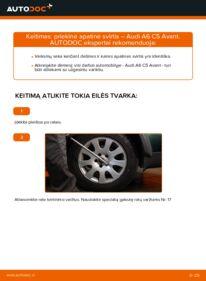 Kaip atlikti keitimą: 2.5 TDI quattro Audi A6 C5 Avant Vikšro Valdymo Svirtis