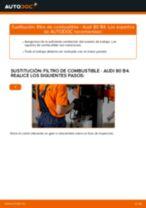 Cómo cambiar: filtro de combustible - Audi 80 B4   Guía de sustitución