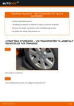 Gratis instruksjoner på nett for bytte Styrekule VW TRANSPORTER IV Bus (70XB, 70XC, 7DB, 7DW)