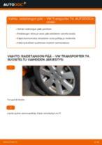 Kuinka vaihtaa raidetangon pää VW Transporter T4-autoon – vaihto-ohje