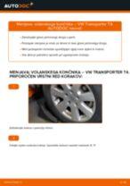 Brezplačna spletna navodila kako obnoviti Konec jarmovega droga VW TRANSPORTER IV Bus (70XB, 70XC, 7DB, 7DW)