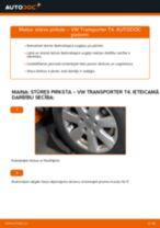 Tiešsaistes bezmaksas instrukcijas kā mainīties Stūres šķērsstiepņa uzgalis VW TRANSPORTER IV Bus (70XB, 70XC, 7DB, 7DW)