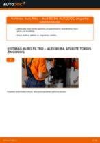 Montavimo Kuro filtras AUDI 80 (8C, B4) - žingsnis po žingsnio instrukcijos