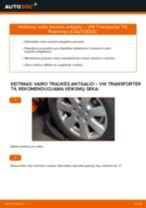 Montavimo Skersinės vairo trauklės galas VW TRANSPORTER IV Bus (70XB, 70XC, 7DB, 7DW) - žingsnis po žingsnio instrukcijos