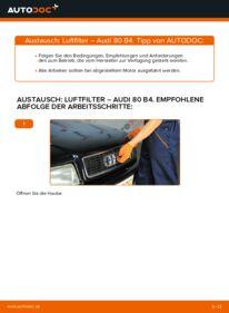 Wie der Wechsel durchführt wird: Luftfilter 2.0 Audi 80 B4 tauschen
