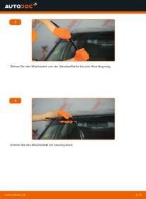 Wie der Wechsel durchführt wird: Scheibenwischer 2.0 Audi 80 B4 tauschen