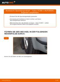 Wie der Wechsel durchführt wird: Spurstangenkopf 2.4 D5 Volvo XC90 1 tauschen
