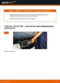 Så byter du Luftfilter på 2.0 Audi 80 b4