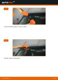 Kaip atlikti keitimą: 2.0 Audi 80 b4 Valytuvo gumelė