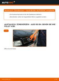 Wie der Wechsel durchführt wird: Zündkerzen 2.0 Audi 80 B4 tauschen