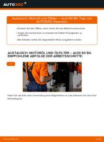 Wie der Wechsel durchführt wird: Ölfilter 2.0 Audi 80 B4 tauschen
