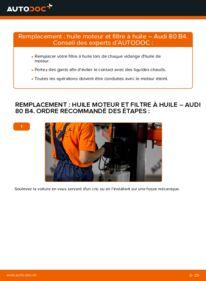 Comment effectuer un remplacement de Filtre à Huile sur 2.0 Audi 80 b4