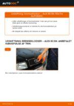 Skift af Bremseklods AUDI 80 (8C, B4) - trin-for-trin vejledning