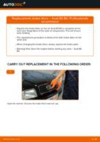 Step by step PDF-tutorial on Brake Discs AUDI 80 (8C, B4) replacement
