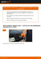 DIY manual on replacing AUDI 80 Brake Discs