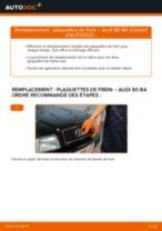Comment changer : plaquettes de frein arrière sur Audi 80 B4 - Guide de remplacement