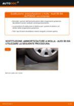 Come cambiare ammortizzatore a molla della parte posteriore su Audi 80 B4 - Guida alla sostituzione
