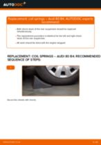 How to replace and adjust Suspension springs AUDI 80: pdf tutorial