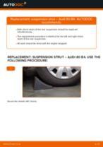 Fitting Struts and shocks AUDI 80 (8C, B4) - step-by-step tutorial