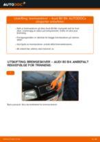 Skifte Frontlykter AUDI 80: verkstedhåndbok