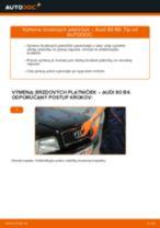Vymeniť Brzdové doštičky AUDI 80: zadarmo pdf