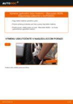Výmena Hlava / čap spojovacej tyče riadenia MERCEDES-BENZ E-CLASS: dielenská príručka