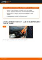 Jak vyměnit zadní brzdové destičky na Audi 80 B4 – návod k výměně