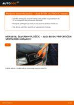 Kako zamenjati in prilagoditi Zavorne Ploščice AUDI 80: vodnik pdf