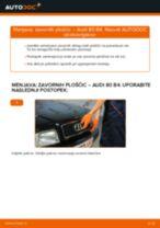 Vgraditi Zavorne Ploščice AUDI 80 (8C, B4) - priročniki po korakih