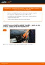 Mudar Pastilhas De Travão AUDI 80: manual técnico