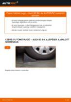 Hátsó futómű rugó-csere Audi 80 B4 gépkocsin – Útmutató