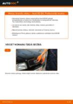 Audi 80 B2 darbnīcas rokasgrāmata