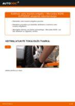 MERCEDES-BENZ E-CLASS Skersinės vairo trauklės galas keitimas: nemokamas pdf