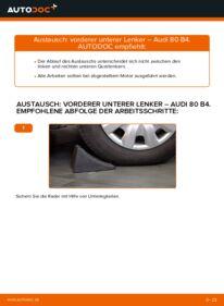 Wie der Wechsel durchführt wird: Querlenker 2.0 Audi 80 B4 tauschen