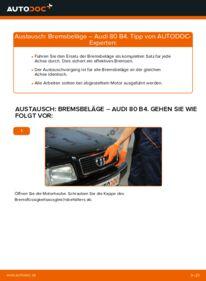 Wie der Wechsel durchführt wird: Bremsbeläge 2.0 Audi 80 B4 tauschen