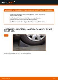 Wie der Wechsel durchführt wird: Stoßdämpfer 2.0 Audi 80 B4 tauschen