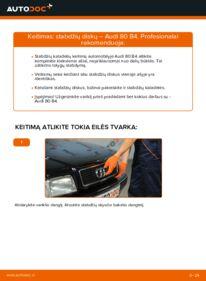 Kaip atlikti keitimą: 2.0 Audi 80 b4 Stabdžių diskas