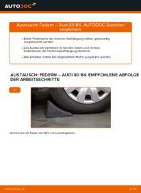 Wie der Wechsel durchführt wird: Federn 2.0 Audi 80 B4 tauschen