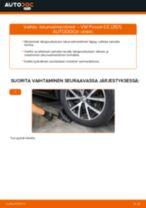 Kuinka vaihtaa iskunvaimentimet taakse VW Passat CC (357)-autoon – vaihto-ohje