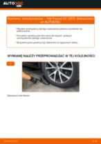 Jak wymienić Amortyzatory tylne i przednie VW PASSAT CC (357) - instrukcje online